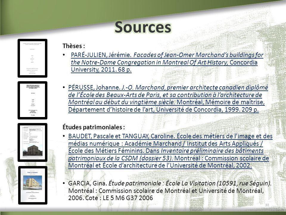 Sources Thèses :