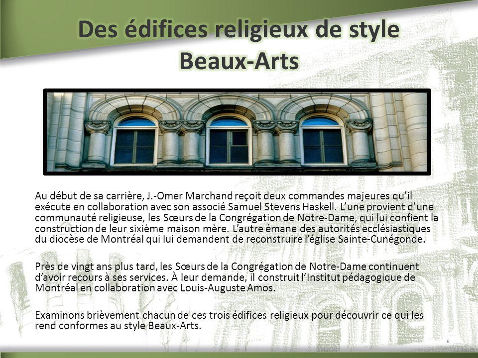 Des édifices religieux de style Beaux-Arts