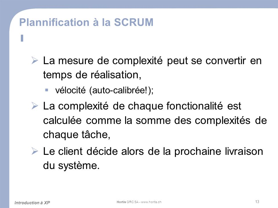 Plannification à la SCRUM