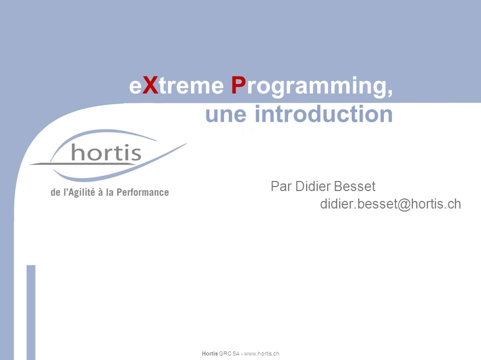 eXtreme Programming, une introduction