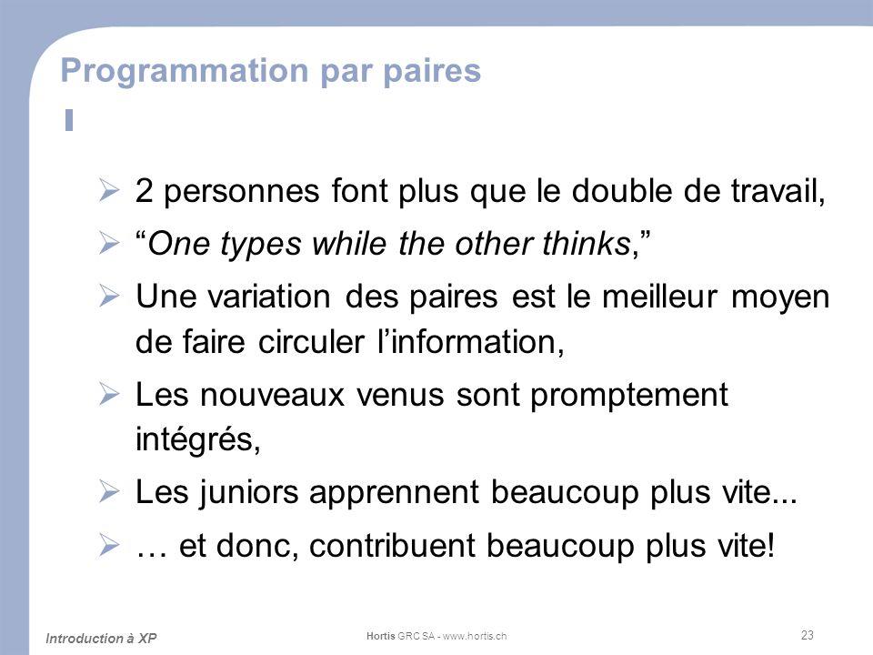 Programmation par paires