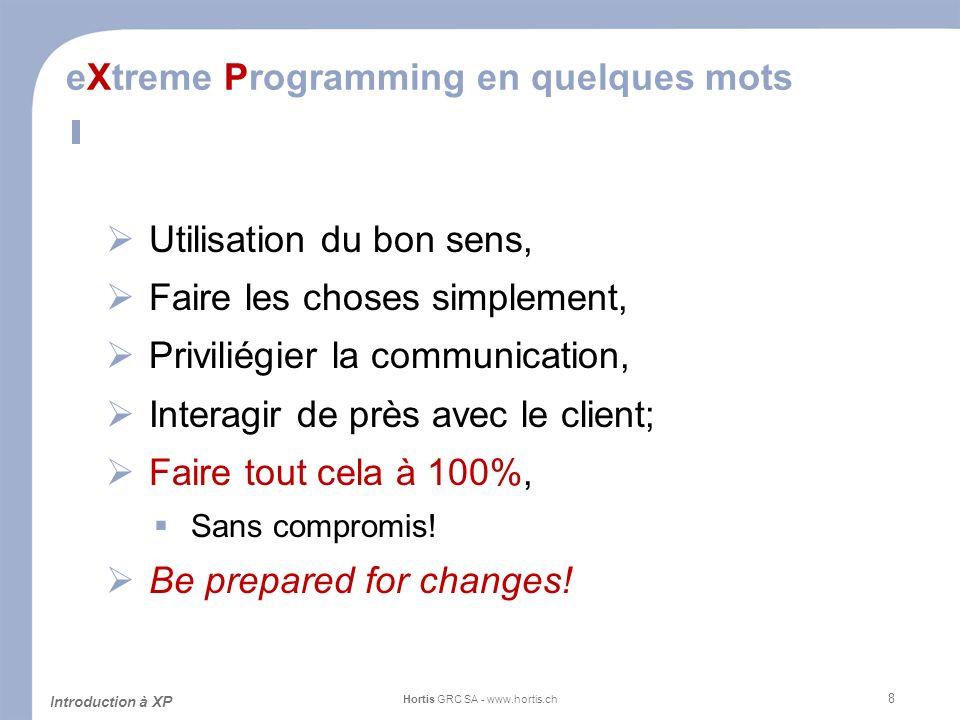 eXtreme Programming en quelques mots