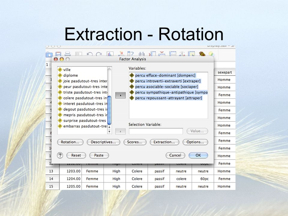 Extraction - Rotation