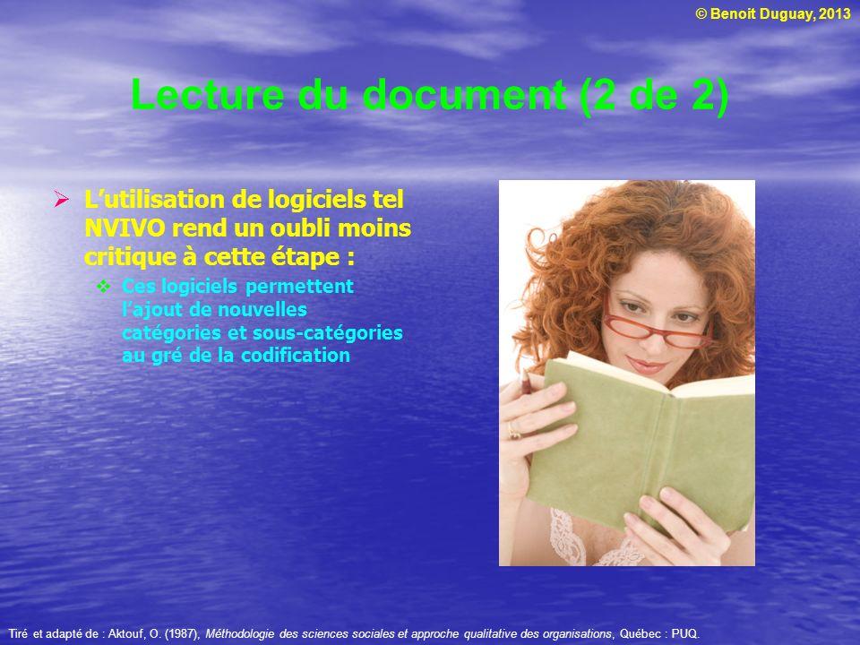 Lecture du document (2 de 2)