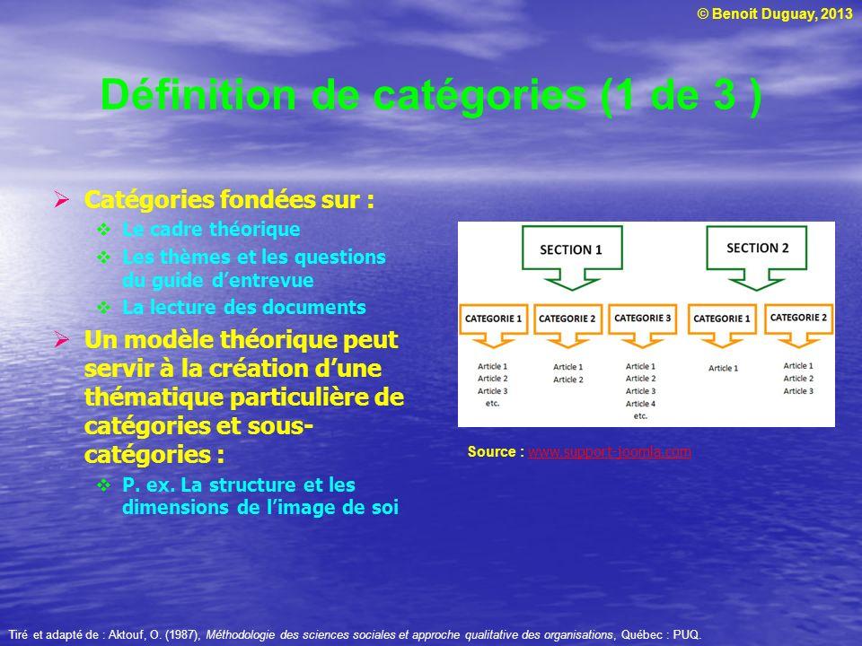 Définition de catégories (1 de 3 )