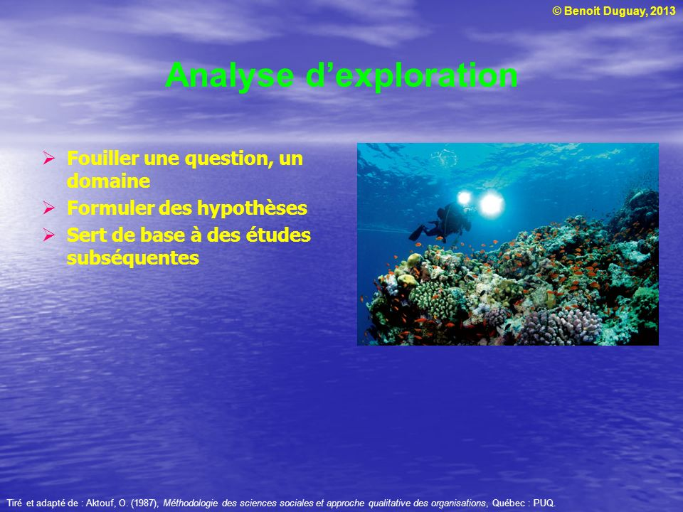 Analyse d'exploration