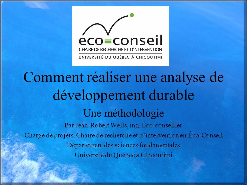 Comment réaliser une analyse de développement durable