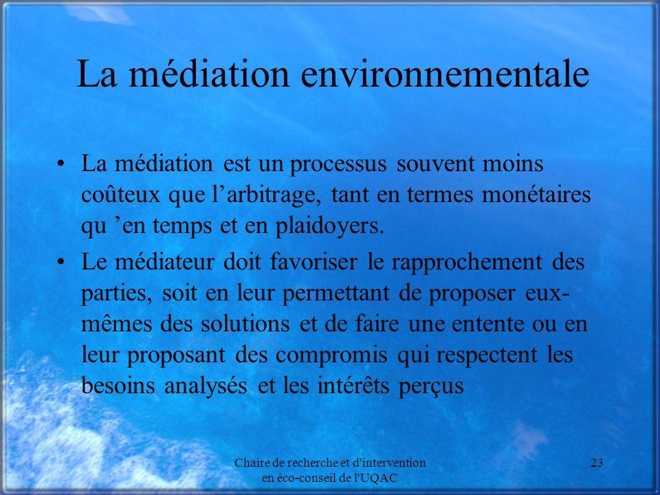 La médiation environnementale