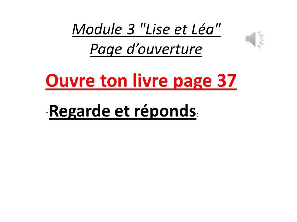 Module 3 Lise et Léa Page d'ouverture