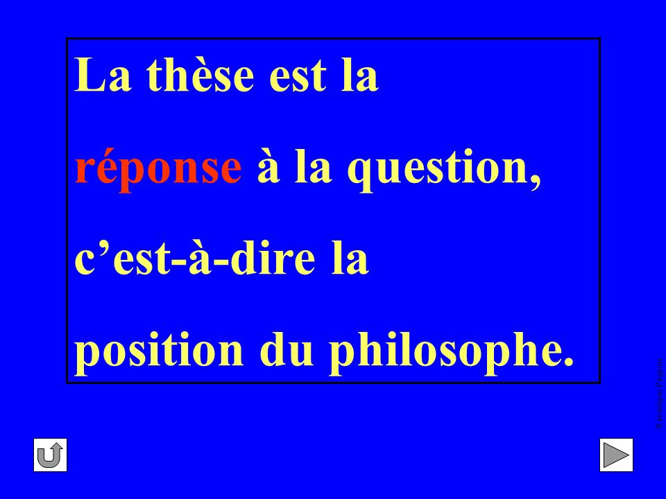 position du philosophe.