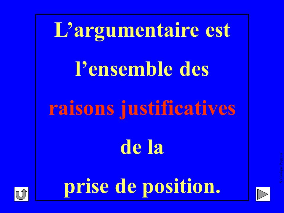 raisons justificatives