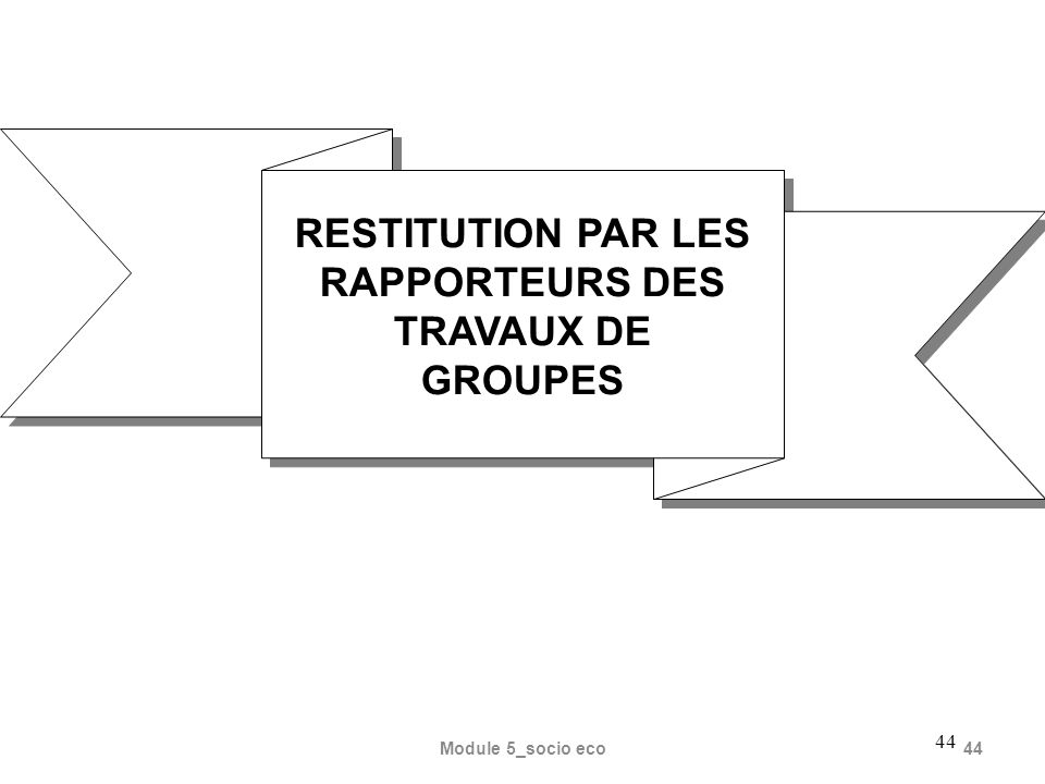 RESTITUTION PAR LES RAPPORTEURS DES TRAVAUX DE GROUPES