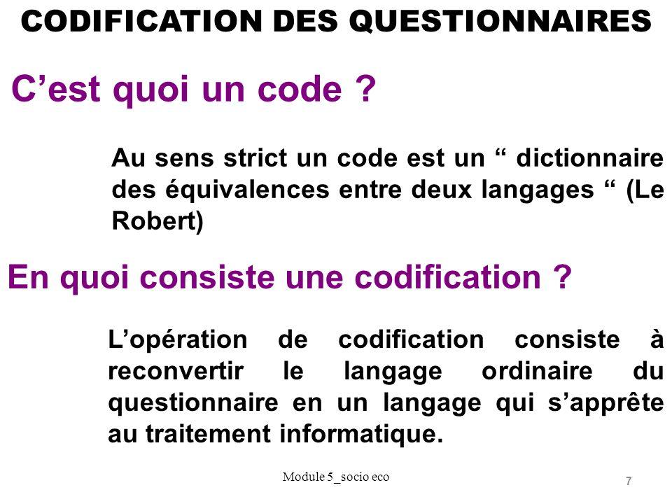 C'est quoi un code En quoi consiste une codification