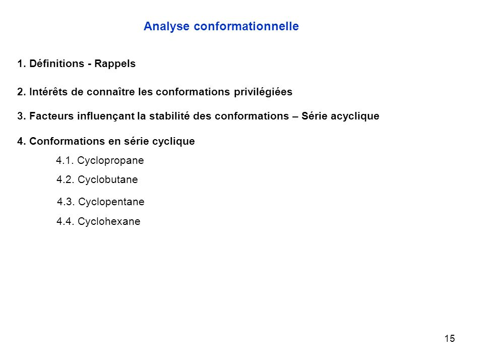 Analyse conformationnelle