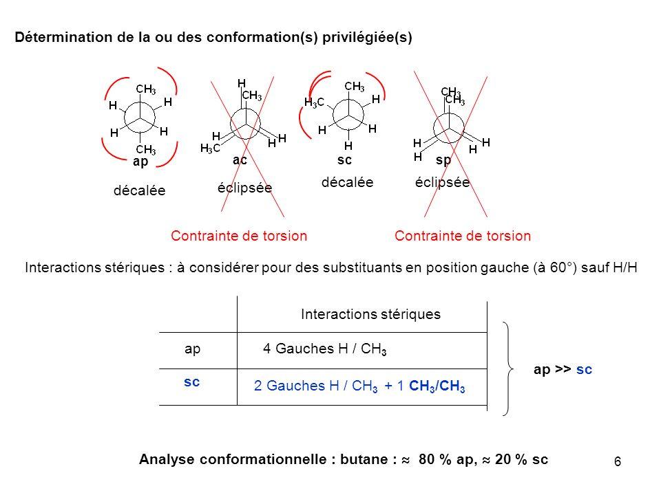 Détermination de la ou des conformation(s) privilégiée(s)