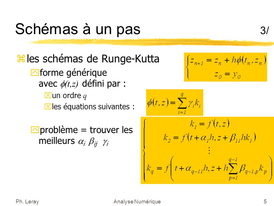 Schémas à un pas 4/ Runge-Kutta d ordre 2