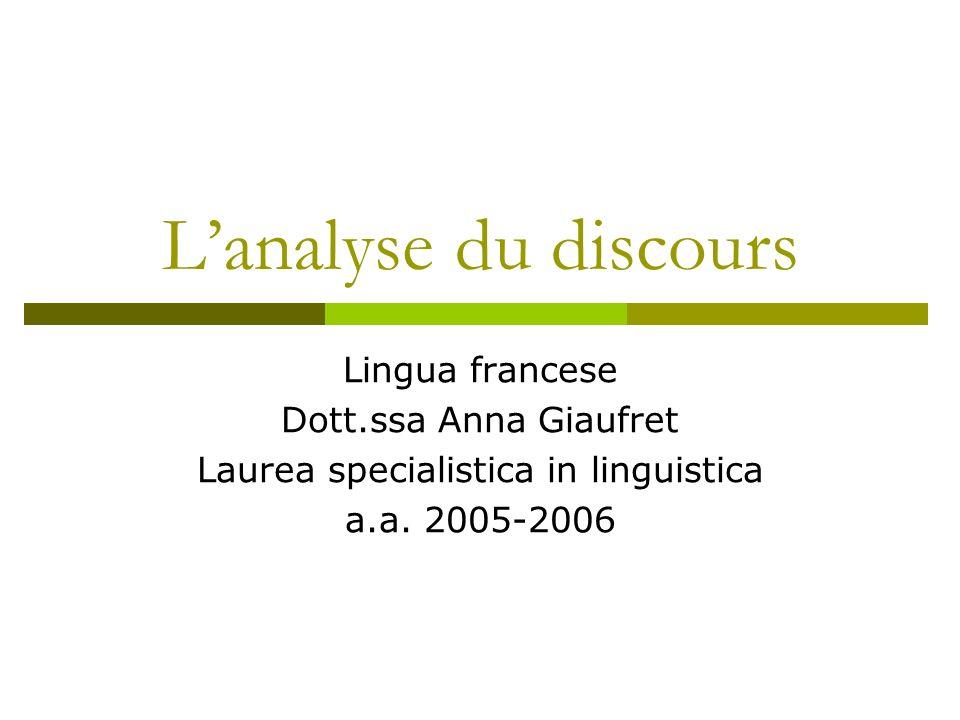 Laurea specialistica in linguistica