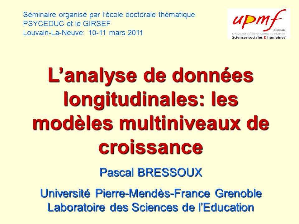Séminaire organisé par l'école doctorale thématique PSYCEDUC et le GIRSEF Louvain-La-Neuve: 10-11 mars 2011