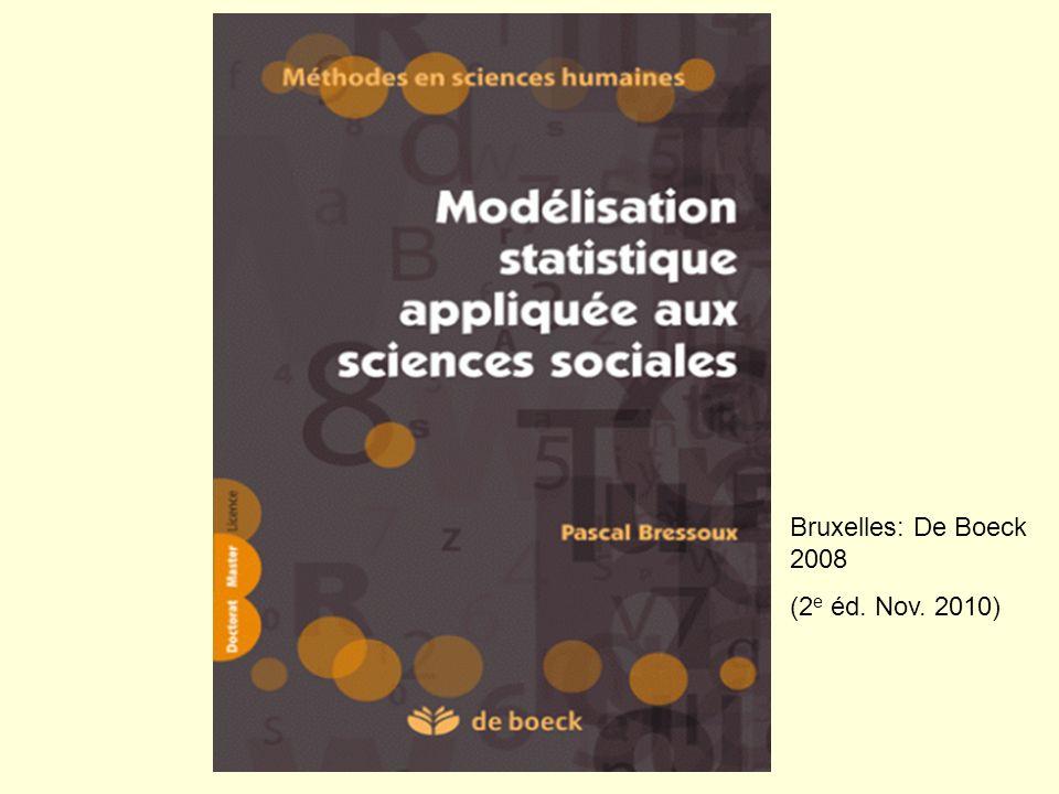 Bruxelles: De Boeck 2008 (2e éd. Nov. 2010)