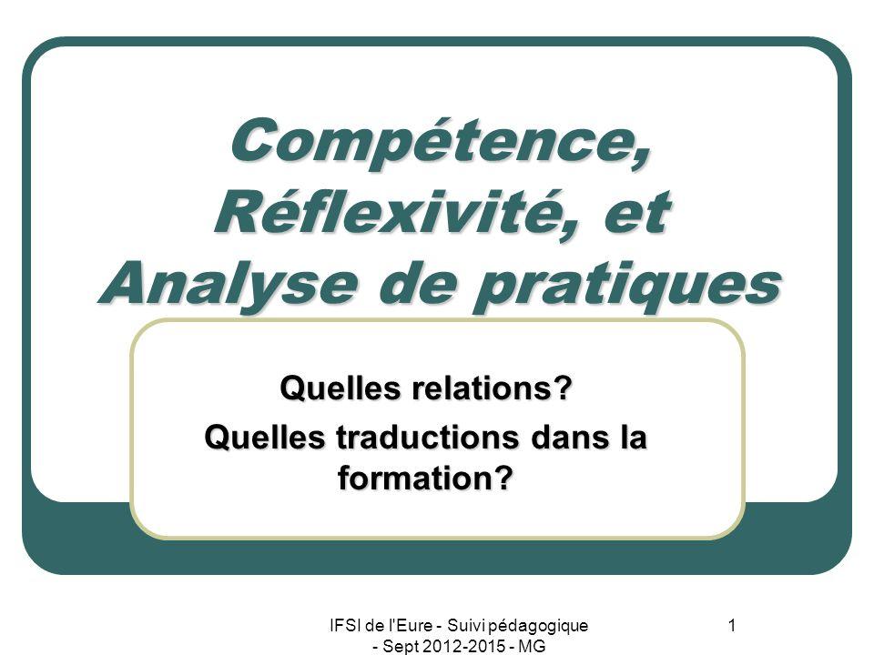 Compétence, Réflexivité, et Analyse de pratiques