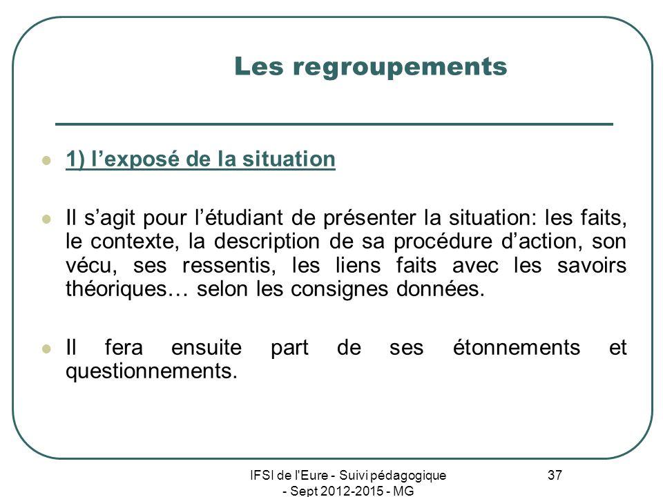 IFSI de l Eure - Suivi pédagogique - Sept 2012-2015 - MG