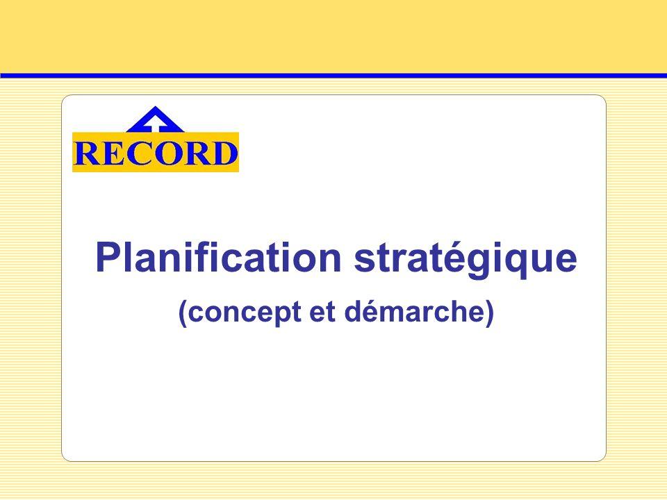 Planification stratégique (concept et démarche)