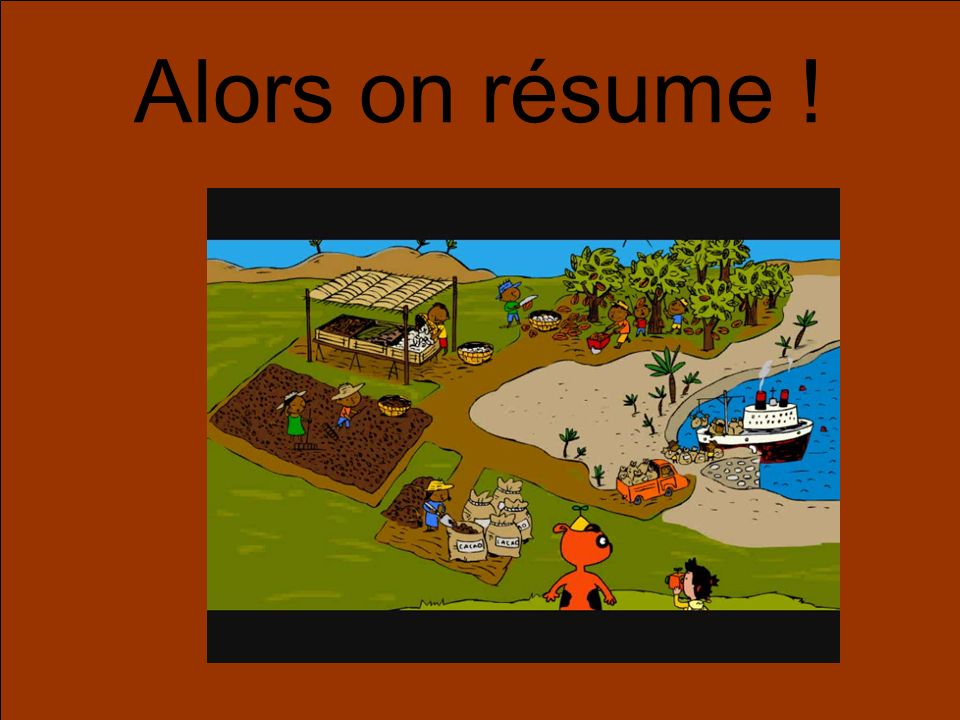 Alors on résume !