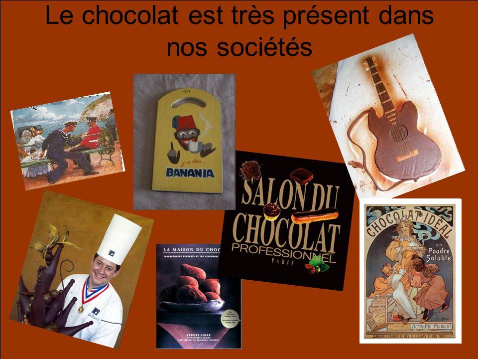 Le chocolat est très présent dans nos sociétés