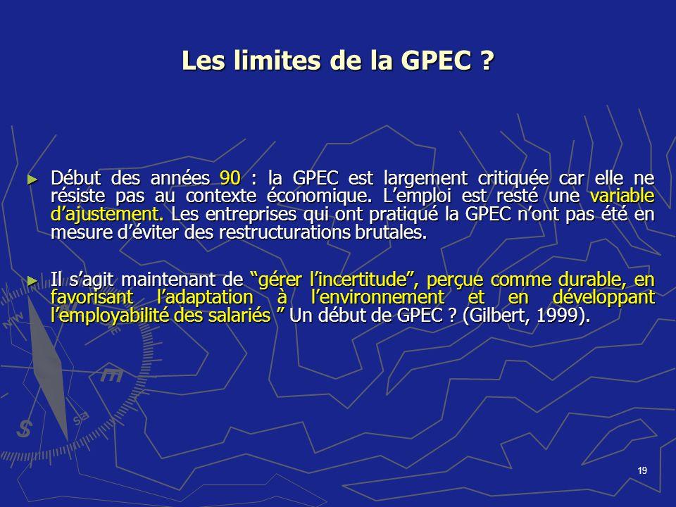 Les limites de la GPEC