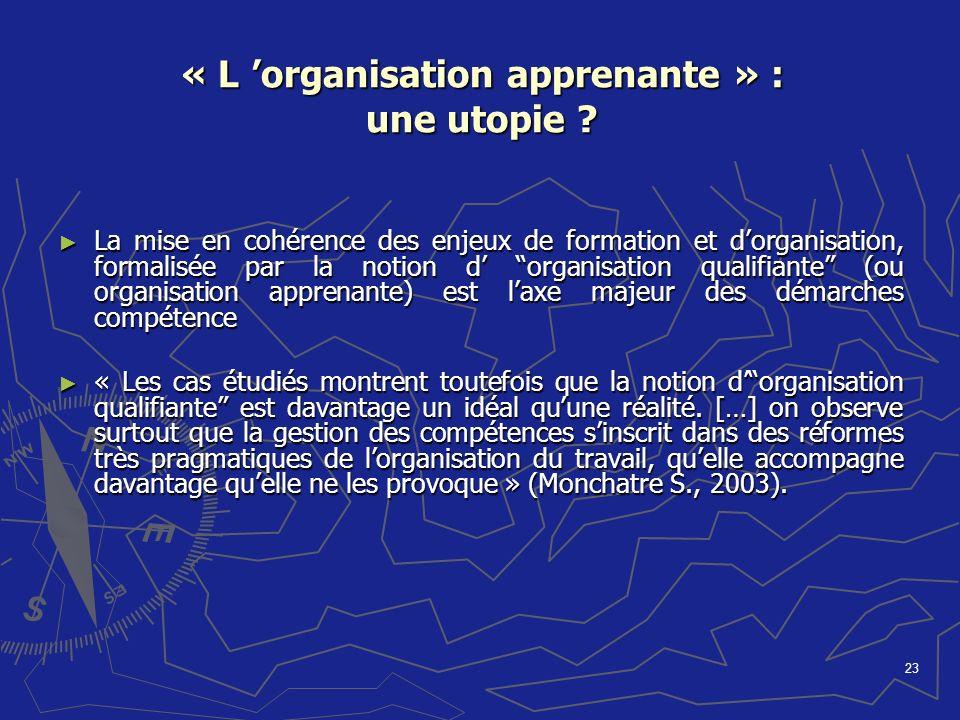 « L 'organisation apprenante » : une utopie