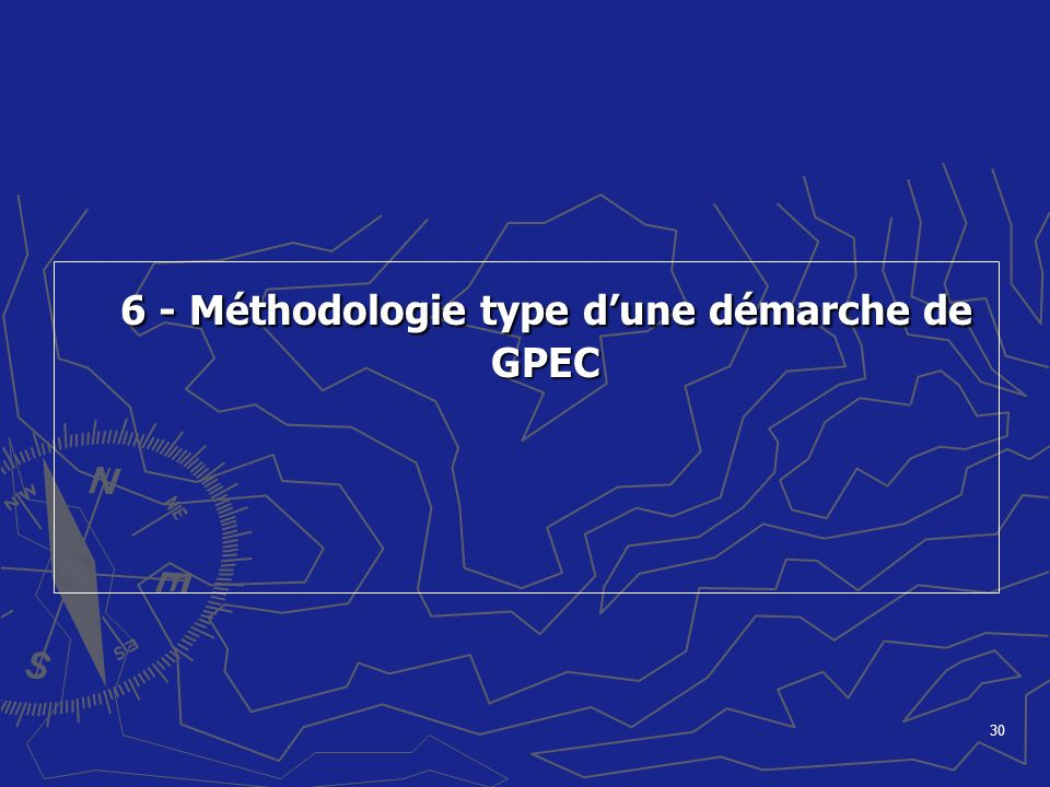 6 - Méthodologie type d'une démarche de GPEC