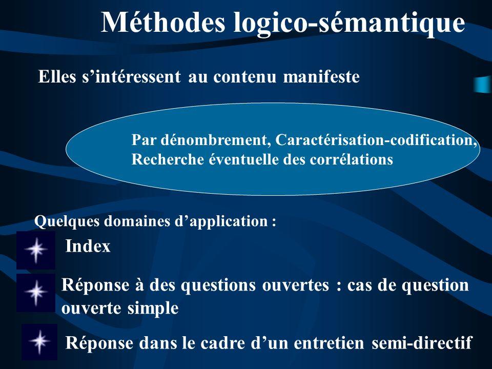 Méthodes logico-sémantique