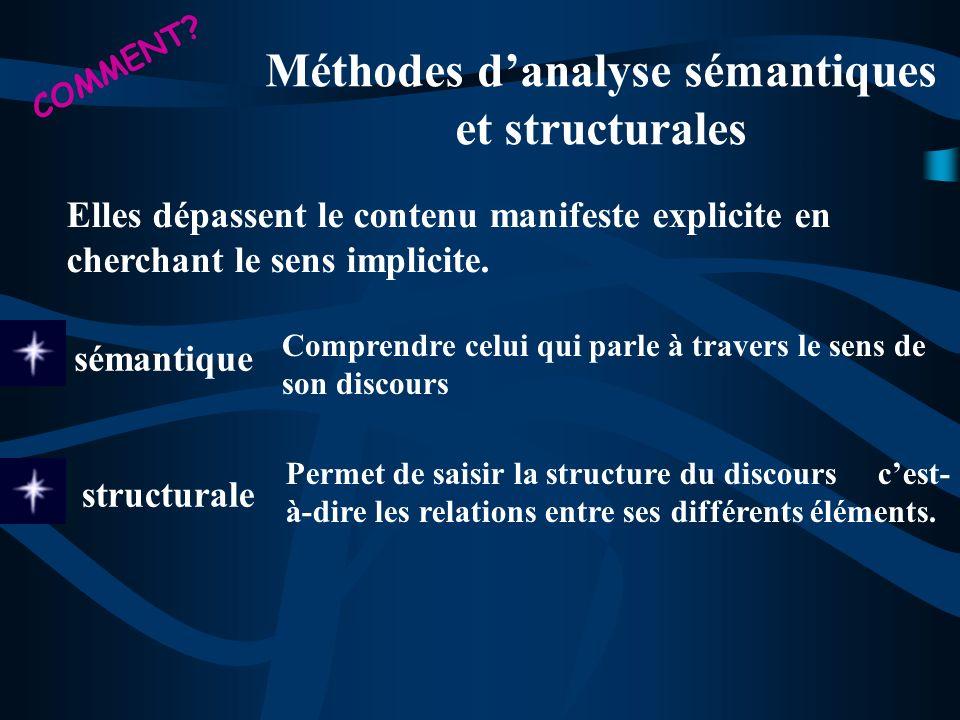 Méthodes d'analyse sémantiques et structurales