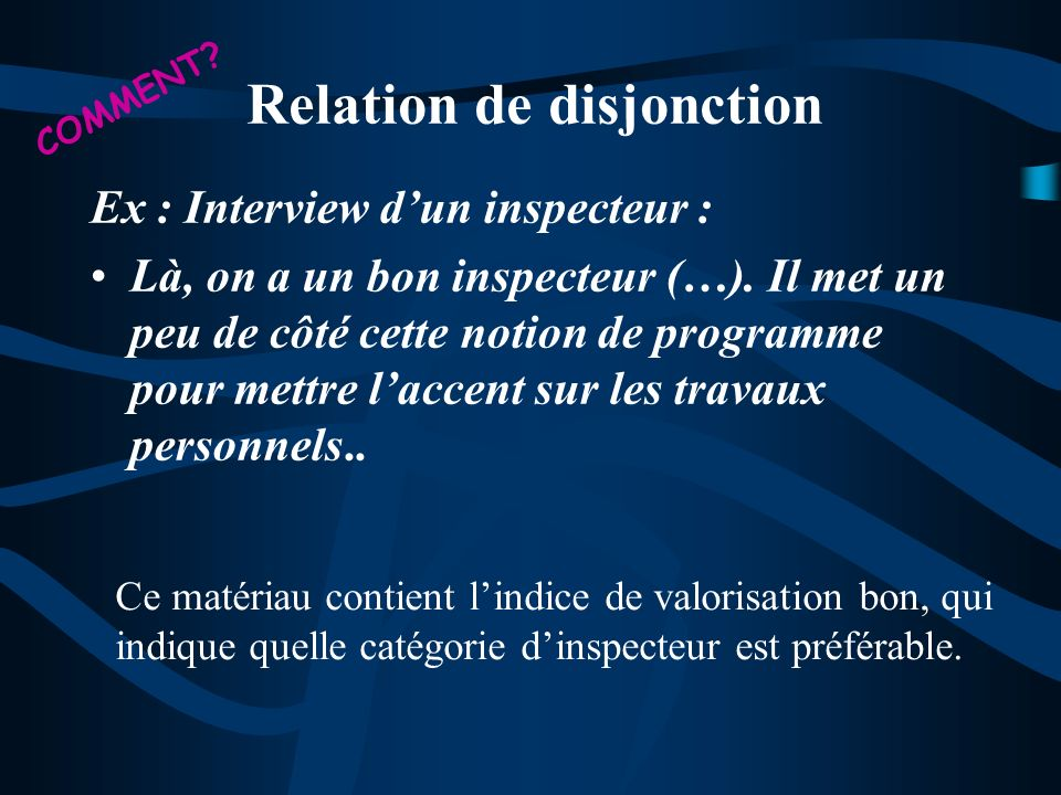 Relation de disjonction