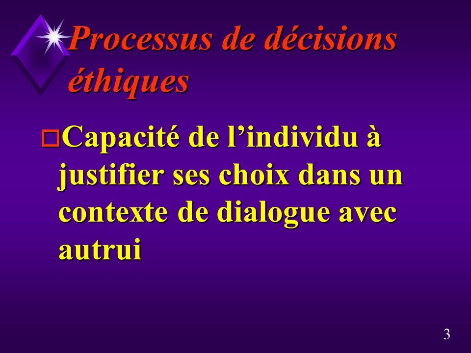 Processus de décisions éthiques
