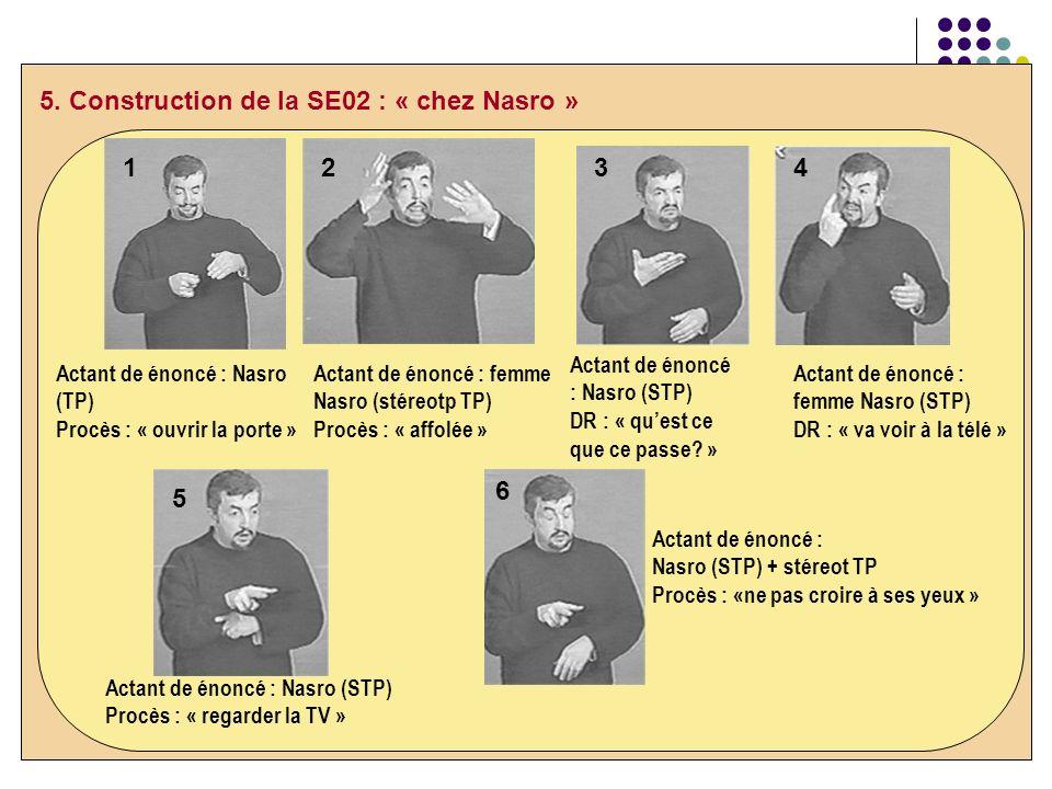 5. Construction de la SE02 : « chez Nasro »