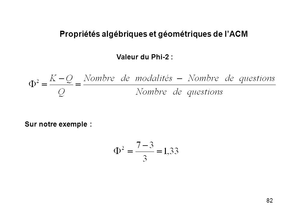 Propriétés algébriques et géométriques de l'ACM