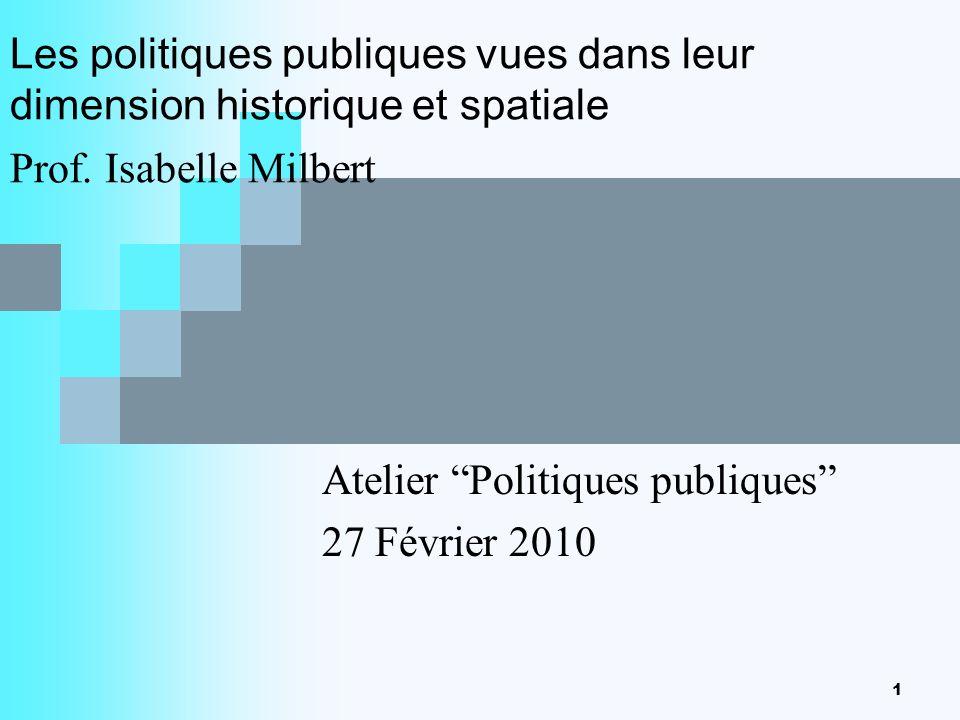 Atelier Politiques publiques 27 Février 2010