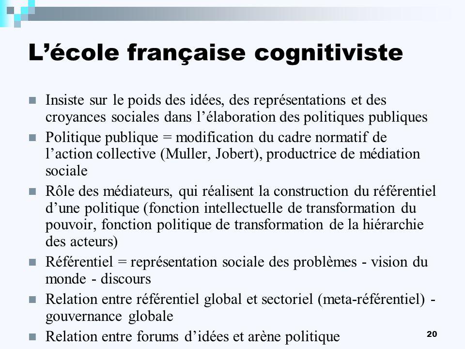 L'école française cognitiviste