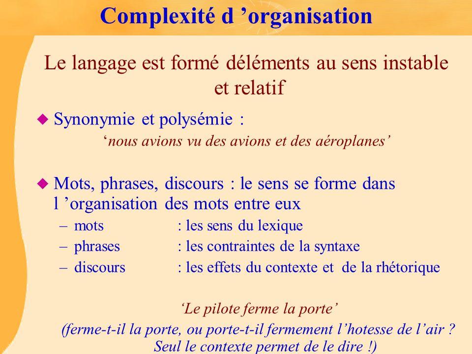 Complexité d 'organisation