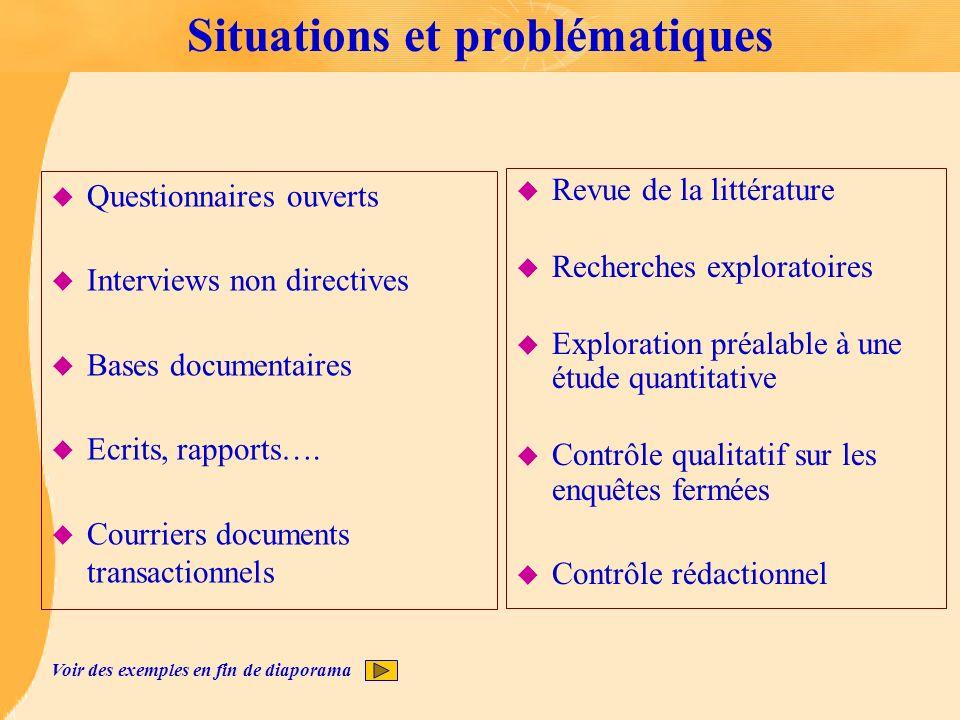 Situations et problématiques