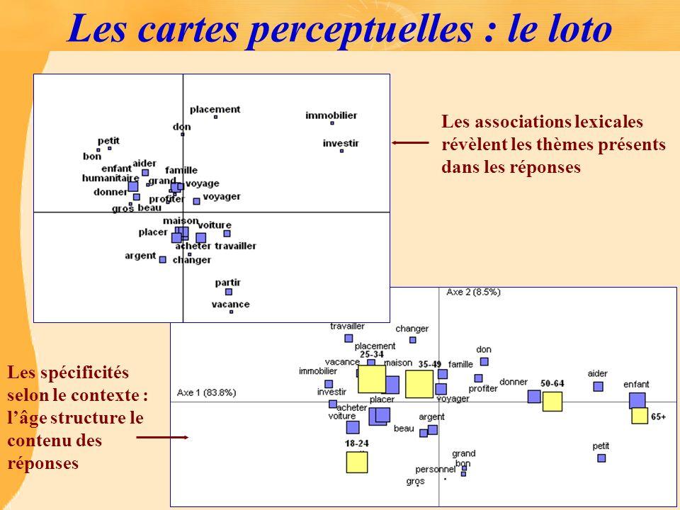 Les cartes perceptuelles : le loto