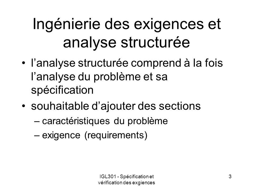 Ingénierie des exigences et analyse structurée