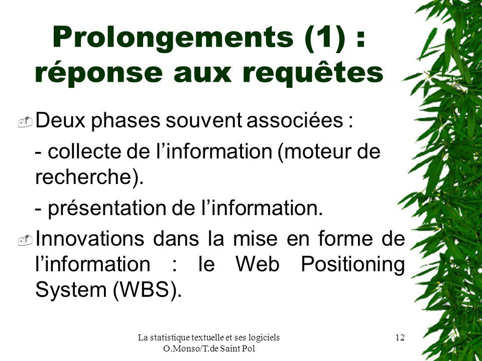 Prolongements (1) : réponse aux requêtes