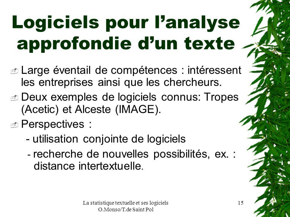 Logiciels pour l'analyse approfondie d'un texte