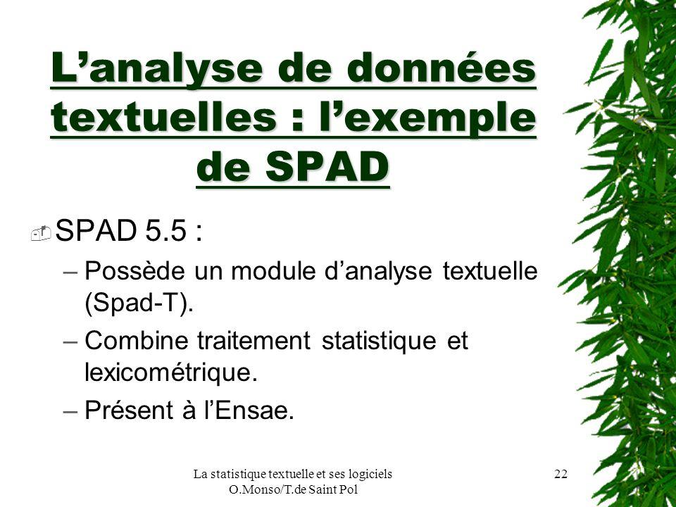 L'analyse de données textuelles : l'exemple de SPAD