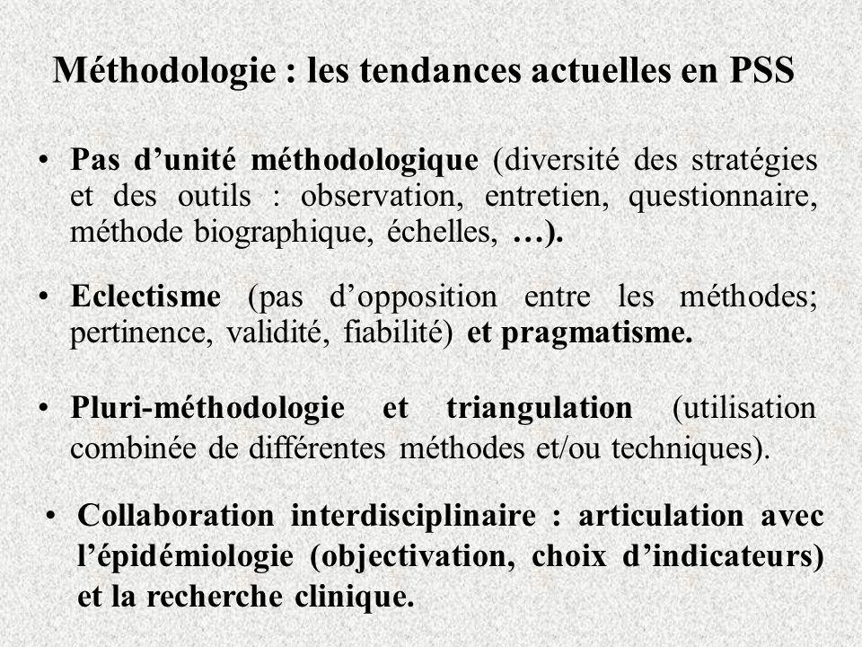 Méthodologie : les tendances actuelles en PSS