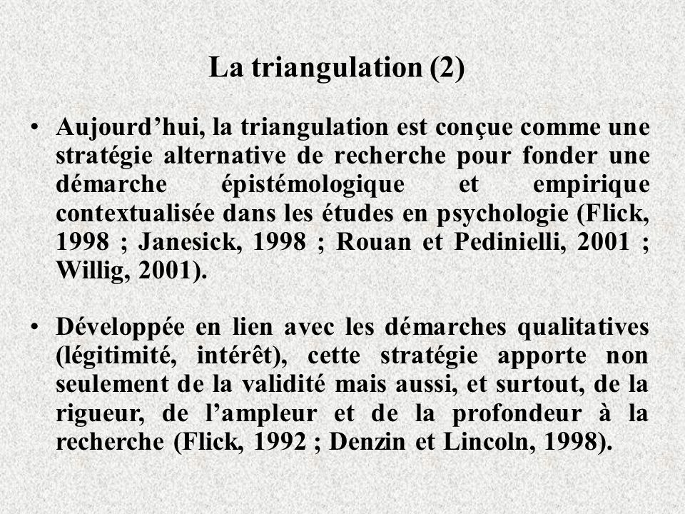 La triangulation (2)