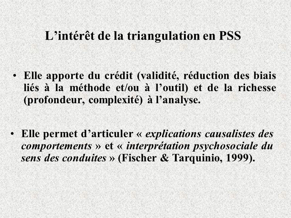 L'intérêt de la triangulation en PSS