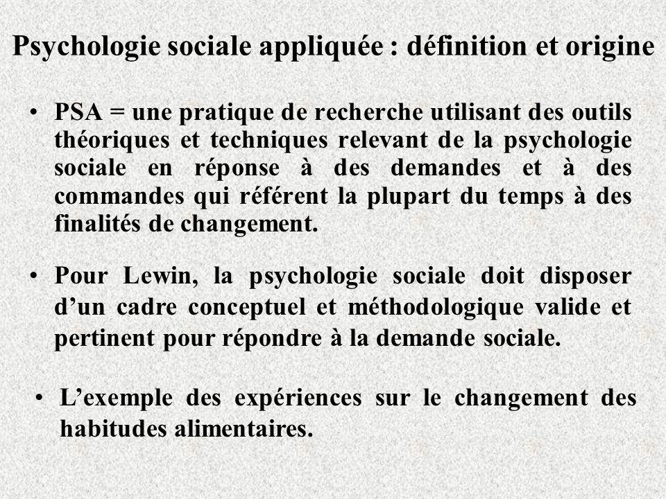 Psychologie sociale appliquée : définition et origine